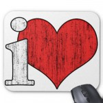 iLove Mousepad from Zazzle.com