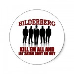 BILDERBERG ROUND STICKER from Zazzle.com