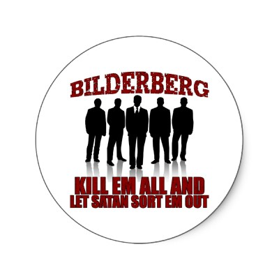 BILDERBERG ROUND STICKER
