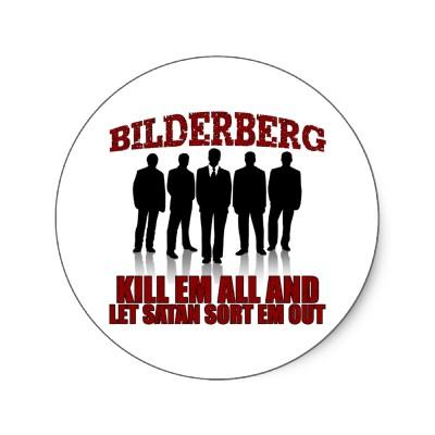 BILDERBERG ROUND STICKER