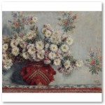 Chrysanthemums (1878) Poster from Zazzle.com