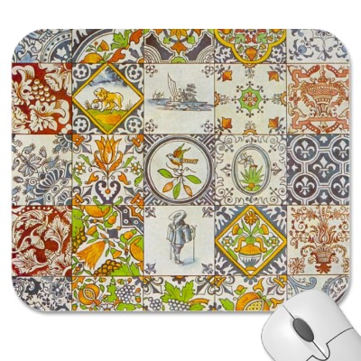 Dutch Ceramic Tiles Mousepad