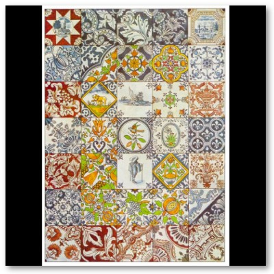 Dutch Ceramic Tiles Poster