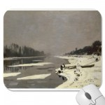 Ice Floes on the Seine at Bougival (1867-1868) Mousepads from Zazzle.com