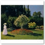 JML in the Garden (1866) Poster from Zazzle.com