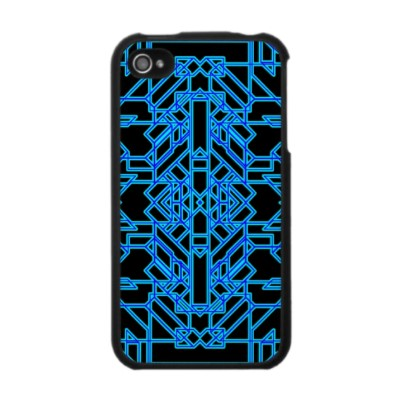 Neon Aeon D iPhone 4 Case