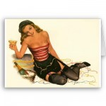 PinUpz Girl 11 Greeting Cards from Zazzle.com