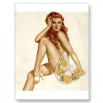 PinUpz Girl 1 Postcards from Zazzle.com
