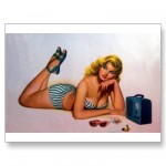 PinUpz Girl 2 Postcard from Zazzle.com