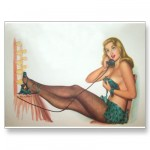 PinUpz Girl 4 Post Card from Zazzle.com
