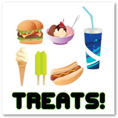 Treats Green Poster