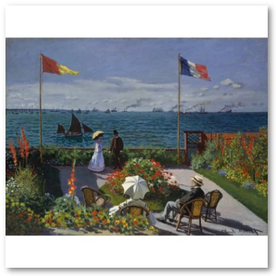 Garden at Sainte-Adresse (1867) Poster