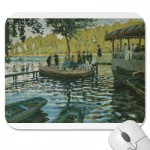 La Grenouillère (1869) Mousepads from Zazzle.com