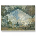 Saint-Lazare Station (1877) Post Card from Zazzle.com
