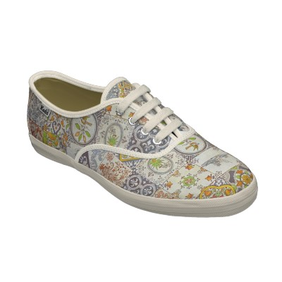 Dutch Ceramic Tiles Womens Laceups Custom Shoes
