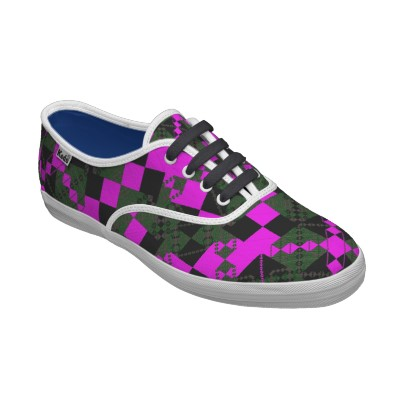 PlaidWorkz46 Womens Laceup Custom Shoes
