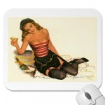 PinUpz Girl 11 Mouse Pads from Zazzle.com