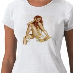 PinUpz Girl 1 T-shirt from Zazzle.com