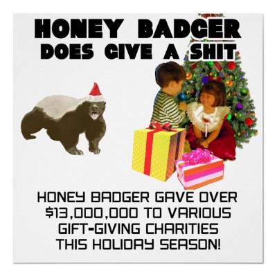 Holiday Season Honey Badger Poster