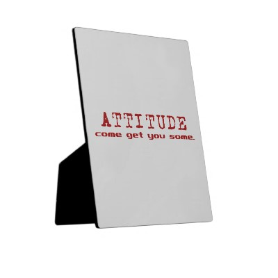 Attitude Red Plaque