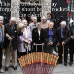 Elderly and Bottle Rockets