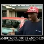 Hamburger Fries And Drink