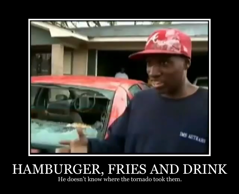 Hamburger Fries And Drink
