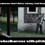 Stab Wheelbarrows With Pitchforks