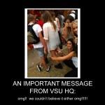 VSUs - An Important Message