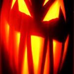 halloween demon pumpkin