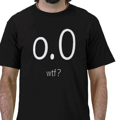o.0 wtf? t-shirts
