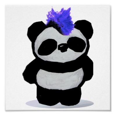 Punk Rock Panda Poster
