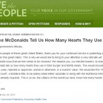 Make McDonalds Tell Us How Many Hearts They Use