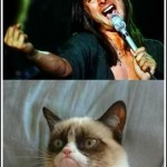 grumpy cat - don't stop believing
