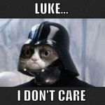 grumpy cat - luke i don&#039;t care