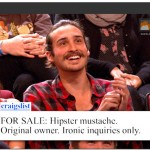 hipster mustache